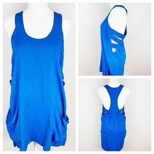 Mason Side Cut Out Blue Mini Tank Dress Size 2
